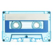 Old Cassette Isolated On White Royalty Free Stock Photography