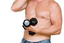 Free Man With Dumbbells Stock Photography - 6552632