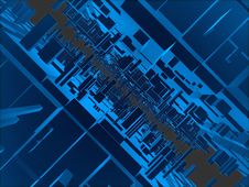Free Lots Of Blue Cubic Futuristic Constructions Royalty Free Stock Images - 6552859