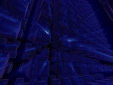 Free Blue Fantasy Alien Cubic Databases Stock Photos - 6552903