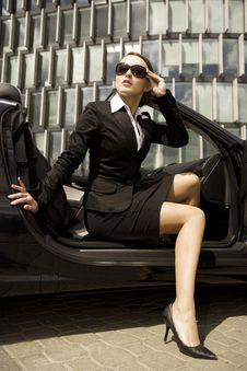 Businesswoman In A Cabrio Royalty Free Stock Images
