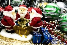 Free New Year S Candle  Santa Claus Royalty Free Stock Photography - 6553117