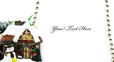 Christmas Congratulatory Card Stock Image