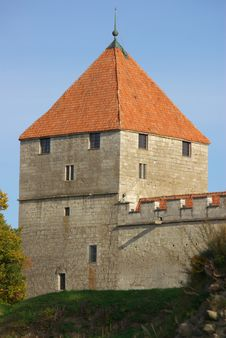 Kuressaare Castle In Bright Autumn Colors Stock Photography