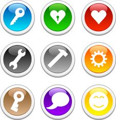 Free Glossy Buttons. Royalty Free Stock Image - 6553796