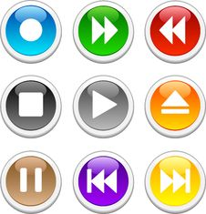 Free Glossy Buttons. Stock Photography - 6553802