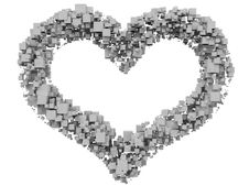 Heart From Cubes Stock Image