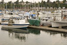 Free Harbor In The Rain Royalty Free Stock Image - 6554786