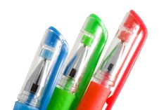 Free Trio Pens Royalty Free Stock Images - 6554939