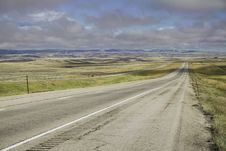 Free Montana Highway With Low Cloud Ceiling Royalty Free Stock Photos - 6556638