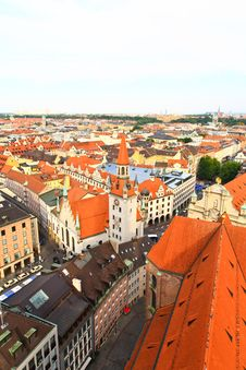 Free The Aerial View Of Munich City Center Stock Photography - 6557302