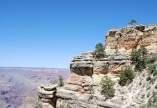 Grand Canyon View Point Stock Photos