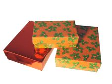 Christmas Gift Boxes. Stock Photos