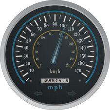 Free Speedometer Vector Royalty Free Stock Photography - 6558107
