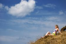 Free Girl On A Grass Stock Photography - 6558352