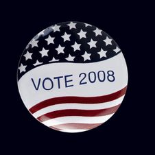 Free Patriotic Voters Badge Button Stock Images - 6558584