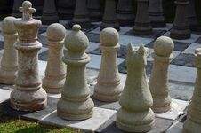 Free Chess Set On The Lawn Stock Photo - 6559040