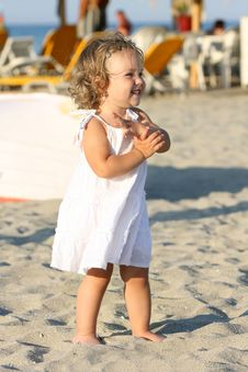 Free Girl At Beach In The Sea Stock Image - 6559691