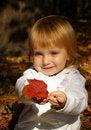 Free Autumn Portrait Of Cute Little Girl Stock Photo - 6566710