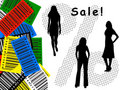 Free Bar-code, Sale, Silhouette Royalty Free Stock Photography - 6569077