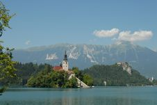 Free Wiew Of Bled Church Stock Photography - 6560962