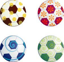 Free Design Football Balls Symbols Royalty Free Stock Photo - 6561175