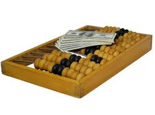 Free Abacus And Dollars Stock Image - 6561781