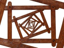 Wooden Frameworks Royalty Free Stock Photo
