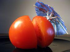 Free Half Tomato With Umbrella Stock Photos - 6562713