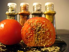 Free Spices And Tomato Stock Photography - 6563322
