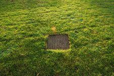 Sewer Manhole Royalty Free Stock Photo