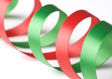 Free Red And Green Ribbon On White Stock Images - 6564094