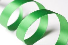 Free Green Ribbon On White Stock Photography - 6564222