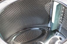 Washing Drum Close Stock Photo