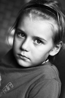 Free Portrait Of Boy In Black And White Stock Photo - 6565500