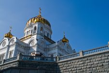 Cathedral Of Christ The Savior In Moscow, Russia Stock Photo