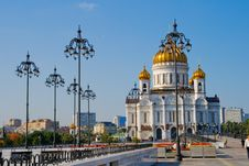 Free Temple Of The Christ Of The Savior In Moscow Royalty Free Stock Photography - 6565647
