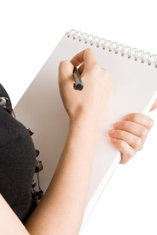 Free A Business Woman Taking Notes Stock Photography - 6566262