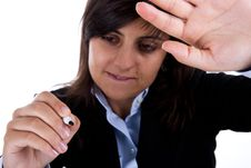 Free Businesswoman With Pen Signing Stock Photos - 6566313