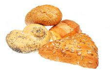 Assorted Bread Rolls Royalty Free Stock Photography