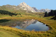 Free Dolomites Reflection Royalty Free Stock Photo - 6566345