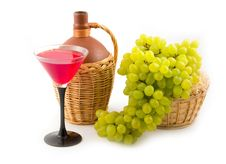 Free Cluster Of Tasty Sweet Green Grapes Stock Photography - 6566622