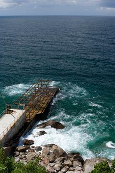 Mooring On Sea Stock Photos