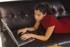 Free Business Woman With Laptop Stock Image - 6567031