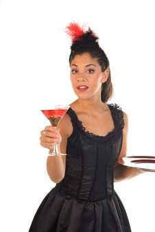 Free Cocktail Waitress Stock Images - 6567094