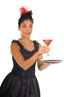Free Cocktail Waitress Stock Photography - 6567102