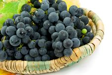 Free Fresh Grapes In A Basket Royalty Free Stock Photos - 6567358