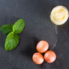 Three New Potatoes With Mint And Butter Royalty Free Stock Images