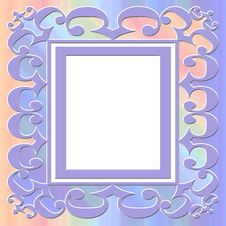 Square Pastel Frame Stock Images