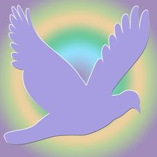 Free Lavender Dove On Gradient Background Royalty Free Stock Image - 6567936